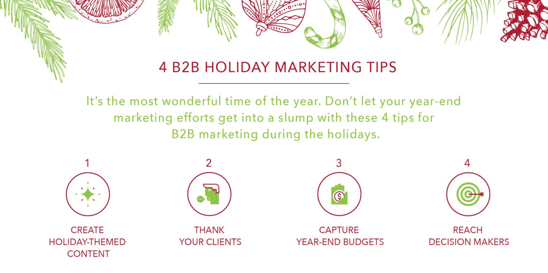 4 B2B Holiday Marketing Tips